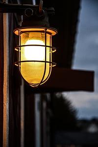 lykt, lampe, huset, lys, dekorasjon, natt, design