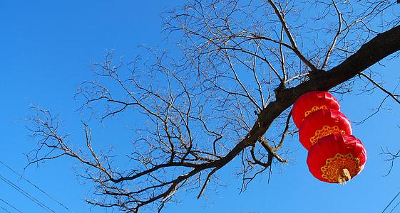 lantaarn, China rood, feestelijke