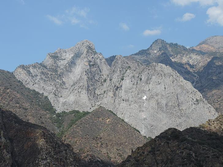 canó de Reis, granit, muntanya, Califòrnia
