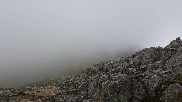 dimma, Rocks, skrämmande, Mountain, naturen, Utomhus, Rock - objekt