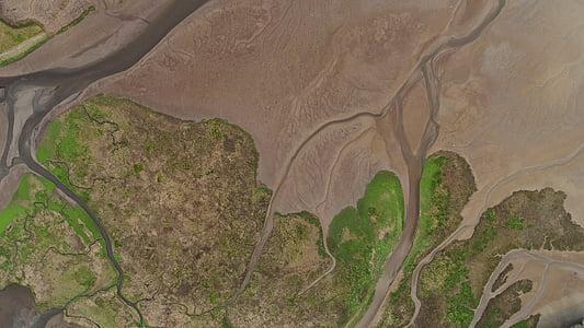 nature, paysage, Aerial, vue, eau, Terre, vert