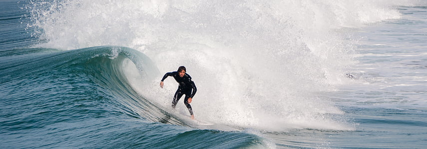 Surfer, Surfen, Ozean, Sommer, Neoprenanzug, Surf, Wellen