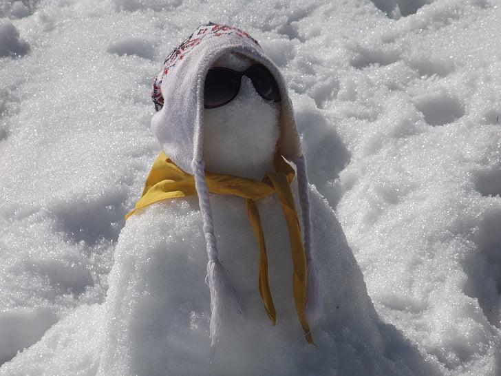 lumiukko, lumi, talvi, Valkoinen talvi