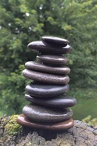 pierres, empilage, créative, méditation, Rock, Balance, Zen-comme