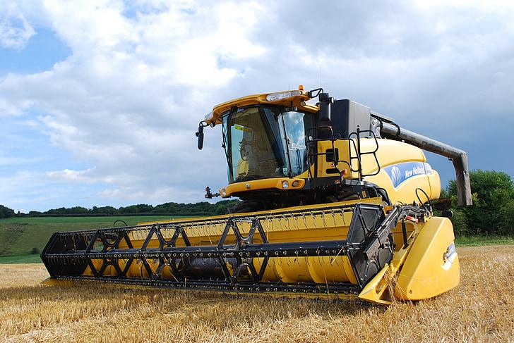 recol·lectora, l'agricultura, la collita, Segadora, cultiu, blat, rural