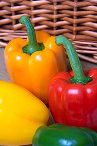svaigu, pipari, vitamīnu, c, pārtika, veselīgi, dārzenis