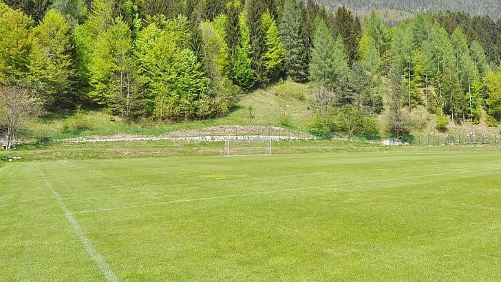 futbal, futbalové ihrisko, Zelená, tráva