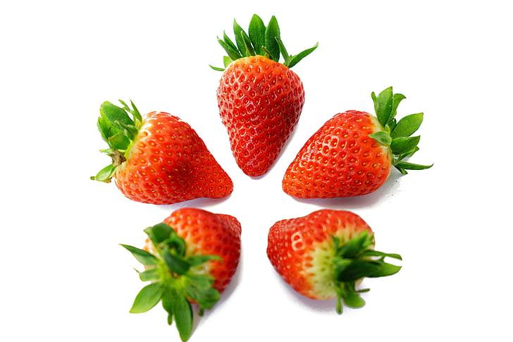 jagode, slatki, Crveni, ukusna, zrela, voćni, voće