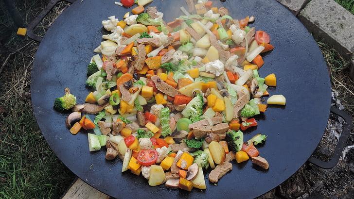 verdures, Sa, barbacoa, seitan, Frisch, aliments, cuinar