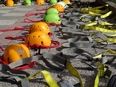 equipment, climb, helmets, belts, backup, bergsport, alpine