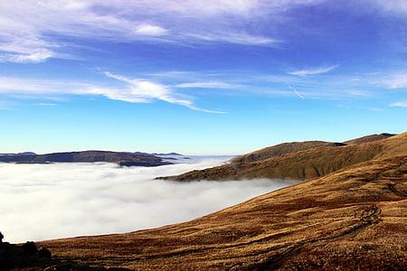 oblaky, Príroda, Mountain, Príroda, Sky, scenics, vonku