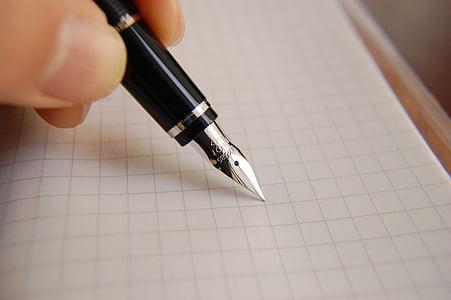 pluma fuente, tinta, pluma, negocios, documento, de la escritura, Oficina