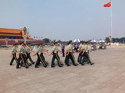 la plaça de Tiananmen, Pequín, Xina, UNESCO, Àsia, cultures, persones