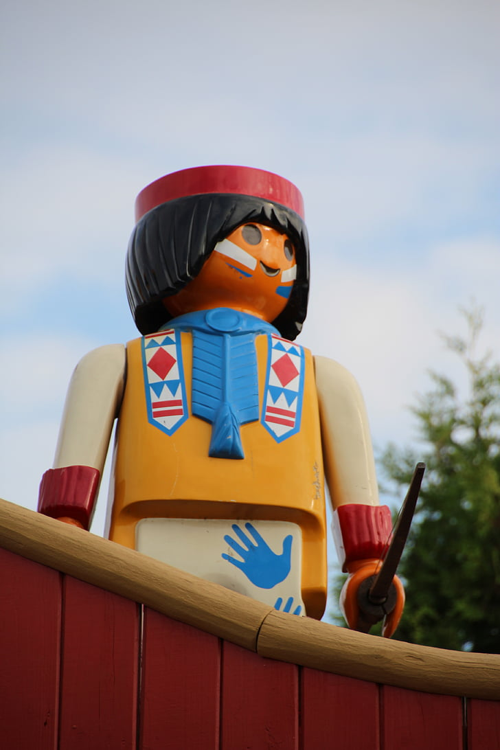 Free photo: playmobil, indians, western, child, arch - Hippopx