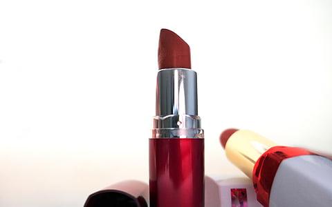 barres de llavis, cosmètica, conformen, bellesa, vermell, femení, femella