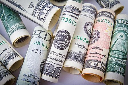 đô-la, tiền, tiền mặt, kinh doanh, tiền tệ, tài chính, khủng hoảng