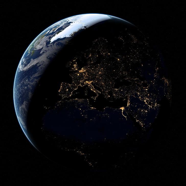 Terre, planète, espace, Cosmos, Globe, astronomie, cosmique