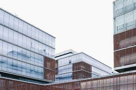 glass, high, rise, buildings, clear, sky, office buildings