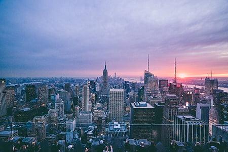 new, york, city, photo, sunrise, cityscapes, cityscape
