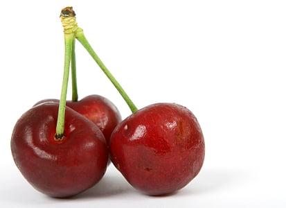 jagoda, śniadanie, wiśnia, zbliżenie, Kolor, kolorowe, kolor