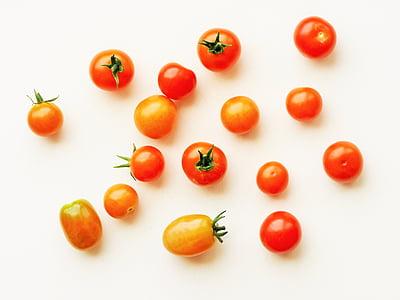 paradicsom, cseresznye, szőlő, piros, élelmiszer, egészséges, friss