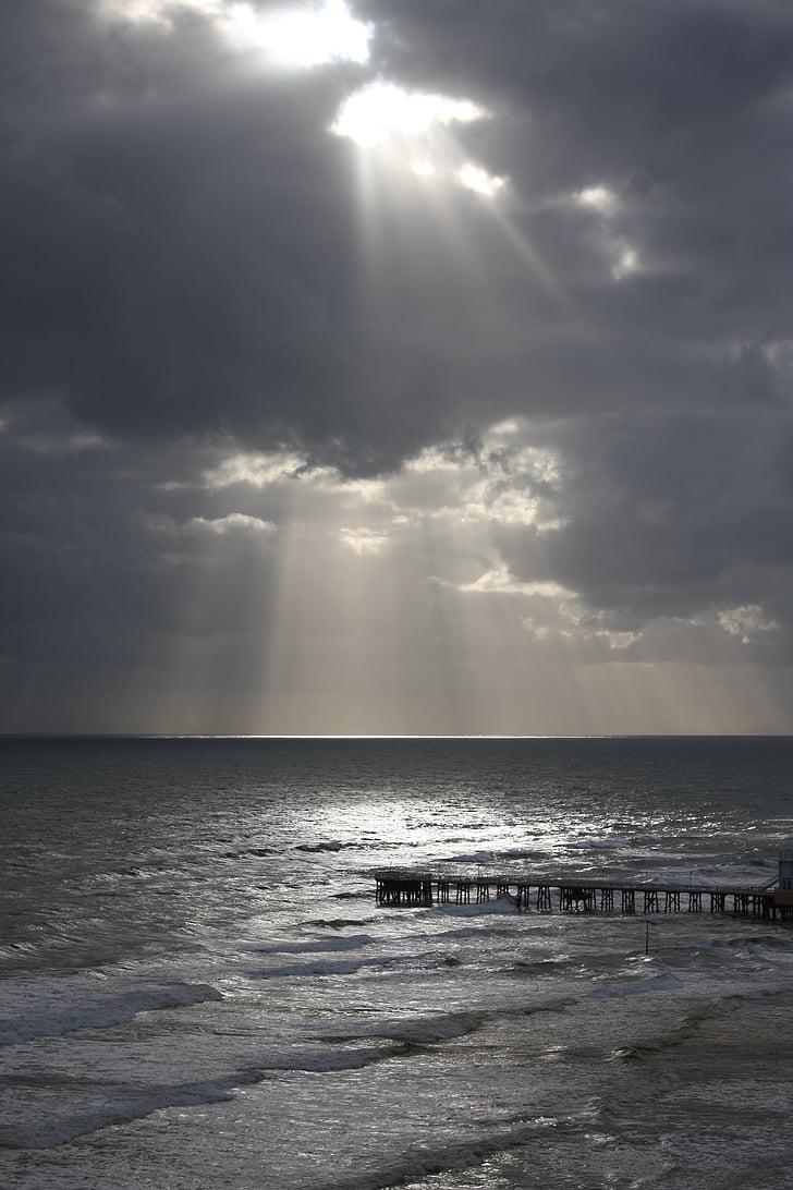 strand, zonsondergang, Oceaan, water, Sunset beach, zonsopgang, vreedzame