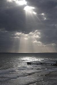 Beach, západ slnka, Ocean, vody, Sunset beach, Sunrise, pokojný