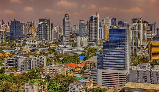 Bangkok, Tailàndia, ciutat, capital de Tailàndia, Bangkok Tailàndia, gratacels