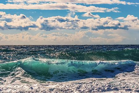 波, 粉碎, 海, 海滩, 自然, 能源, 电源