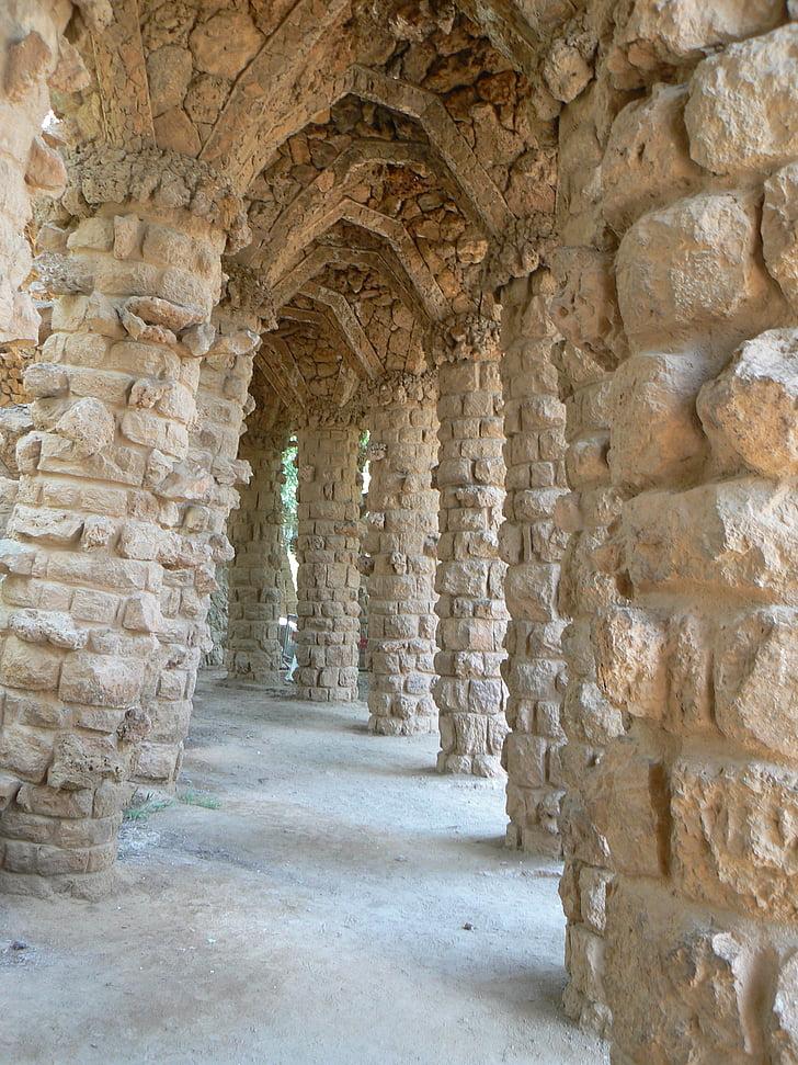 Gaudí, l'infern, pedres de granit, pedres, granit, gabionensteine, trossos de granit