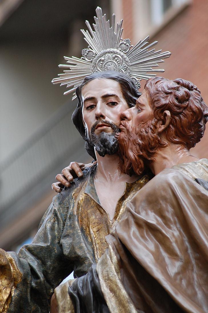 Jesús, processons, Setmana Santa, processons de Múrcia, Salzillo, processó, detenció
