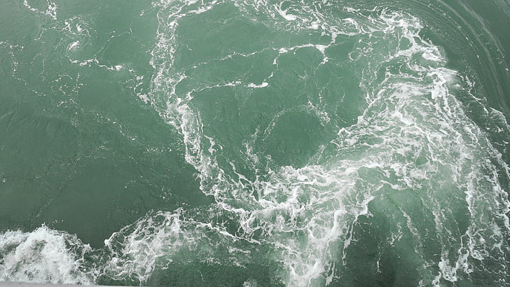 havet, vågorna, grön, havet, våg, naturen, vatten