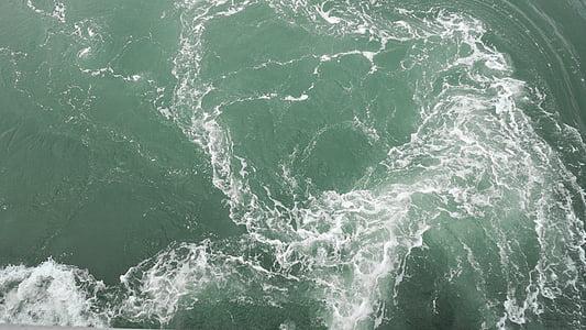 el mar, les ones, verd, Mar, ona, natura, l'aigua
