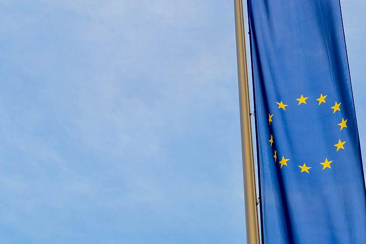 Europa, europeu, Unió Europea, Bandera, UE, blau, Euro