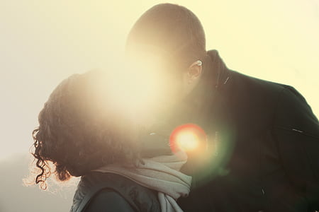 couple, kiss, love, man, woman, grunge, female