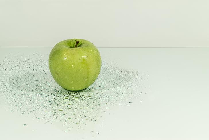 Apple, ovocie, šťava, Zelená, Jablková šťava, vlhkosť, kvapky vody