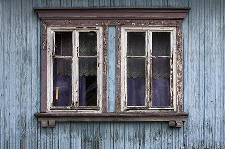 okno, stare okna, Konstrukcje drewniane, Architektura, drewno - materiał, stary, staromodny