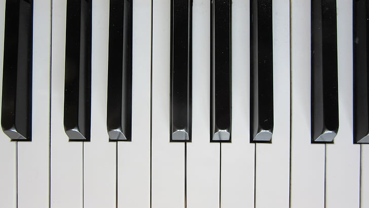 piano, keys, close, piano keyboard, musical instrument, piano keys, black