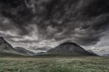 scotland, highlands and islands, landscape, highlands, mood, nature, clouds