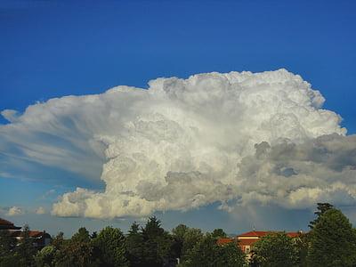 ระบบคลาวด์, ท้องฟ้า, สีขาว, เมฆ, สีฟ้า, แปลก, รูปแบบของเมฆ