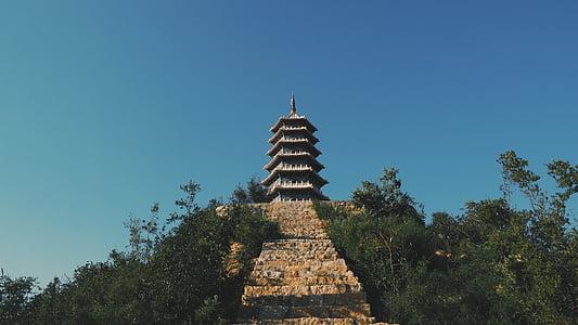 templet, byggnad, landmärke, arkitektur, religiösa, antika, Asia