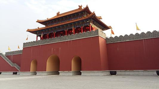 la plaça de Tiananmen, Torre ciutat, ciutat d'estudi, Pequín, Àsia, Xina - Àsia Oriental, ciutat prohibida