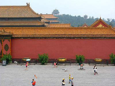 Bắc Kinh, Tử Cấm thành, Trung Quốc, cung điện, mái nhà, con người