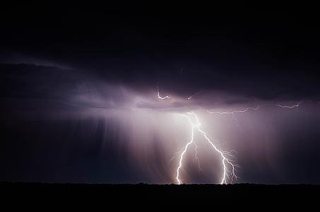 žaibą, Žaibas, galia, Audra, perkūnas, blykstė, Orai
