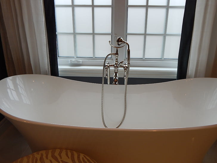 อ่างอาบน้ำ, อ่างอาบน้ำ, อ่างอาบน้ำ, ห้องน้ำ, บ้าน, สีขาว, ตกแต่งภายใน