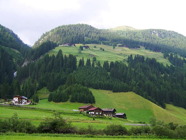 poble alpí, paisatge alpí, Alps