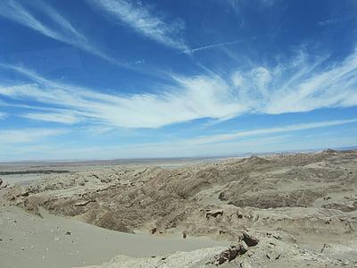 Atacama, sa mạc, đám mây, bầu trời, Cát, khô, Hot