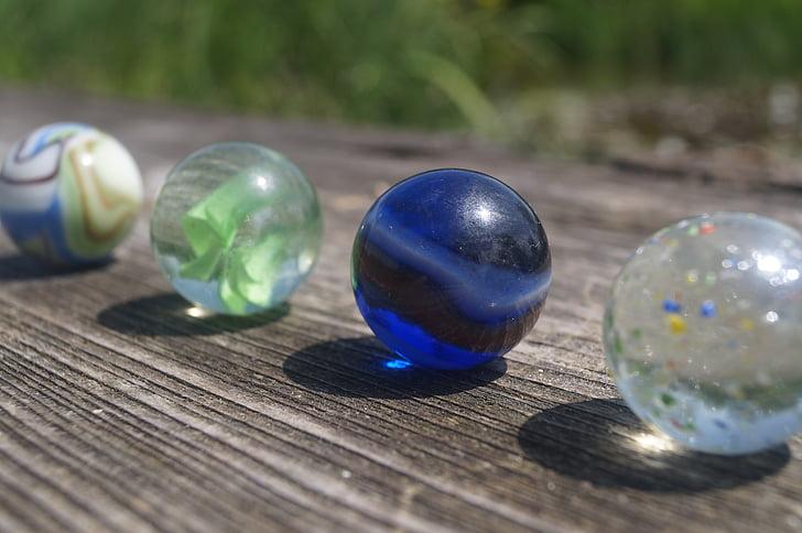 мраморы, glaskugeln, красочные, о, стекло, рулон, стеклянные шарики