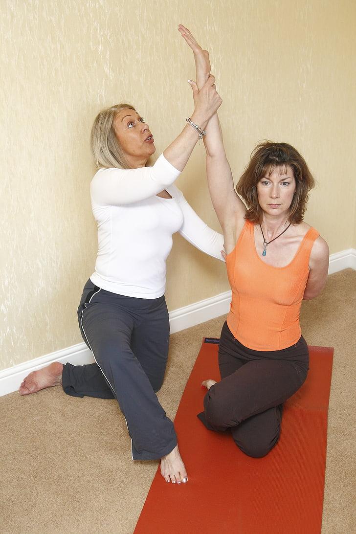 Yoga Teràpia, l'espatlla congelat, estirament, Ioga, exercici, relaxació, dona de ioga
