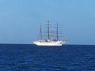 segelbåt, segelfartyg, havet, fartyg, båt, segel, fartyg